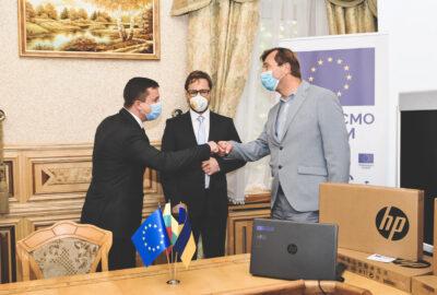 EU COVID-19 response: State Customs Service of Ukraine received 200 laptops and VC equipment via EU Public Finance Management Support Programme (EU4PFM)