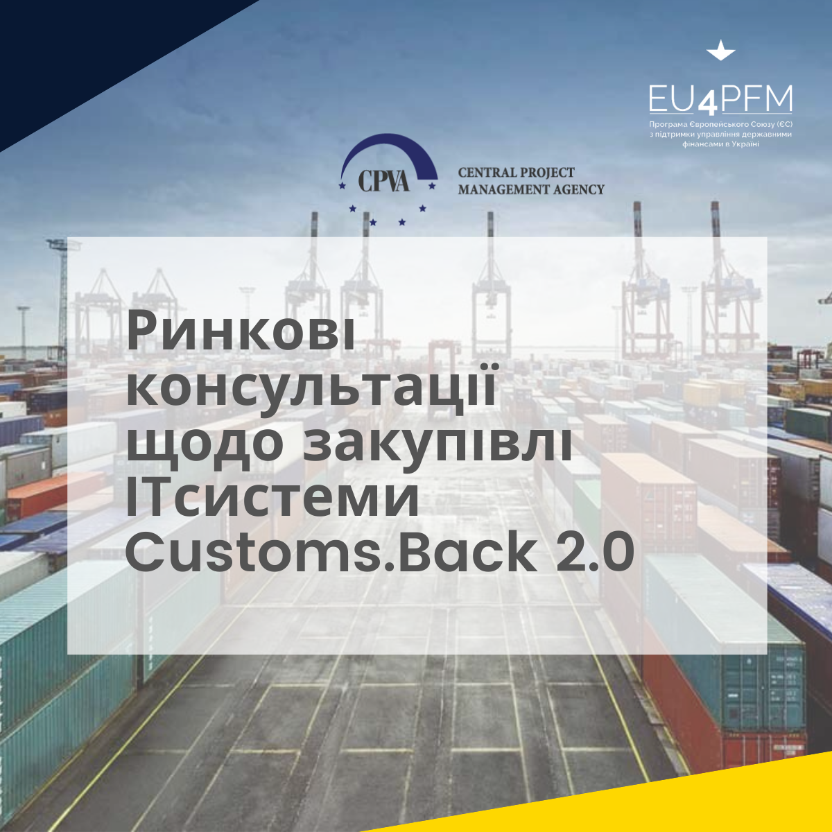 """Call to participate in the market consultation for the procurement of """"IT system Customs.Back 2.0 development services"""""""