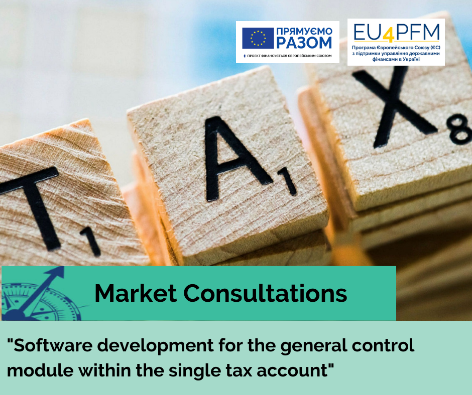"""Call to participate in the market consultation for the procurement of """"Software development for the general control module within the single tax account"""""""